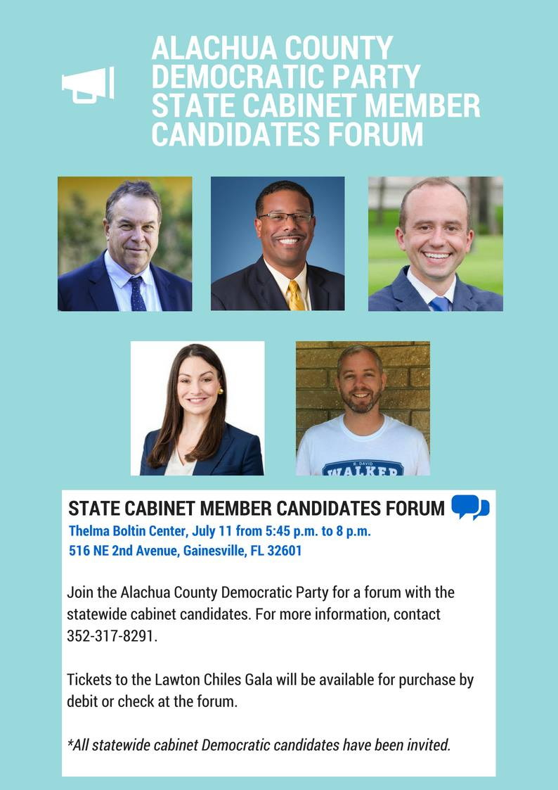 Alachua County Democratic Party State Cabinet Member Forum